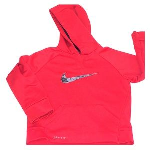 little boys Nike Dri-Fit Hoodie Size 24months red
